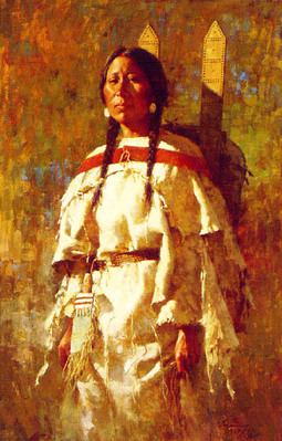 Cheyenne Mother- Signed By The Artist – CanvasGiclee – Limited Edition – A/P – 27x17 1/2