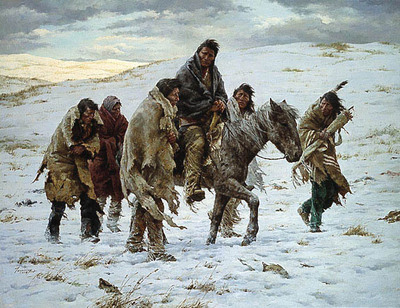 Chief Joseph Rides To Surrender- Signed By The Artist – PaperLithograph – Limited Edition – 1000S/N – 25 1/2x31 1/2
