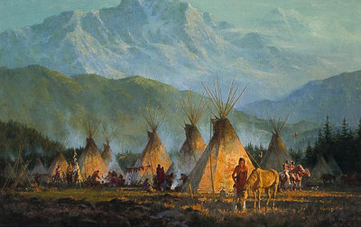 Crow Camp, 1864- Signed By The Artist								 – Paper Lithograph – Limited Edition – 1000 S/N – 18 1/4 x 29 1/2