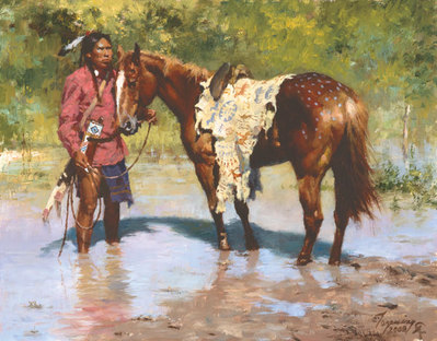 Deeds Of His Father- Signed By The Artist								 – Canvas Giclee – Limited Edition – 55 A/P – 9 x 12
