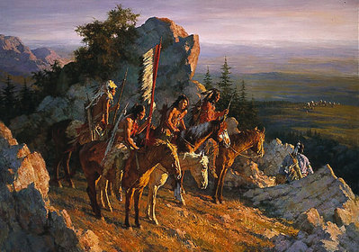 Gold Seekers To The Black Hills- Signed By The Artist – PaperLithograph – Limited Edition – 1000S/N – 26 1/4x36