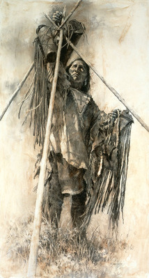 Guarding The Lodge- Signed By The Artist – PaperGiclee – Limited Edition – 20A/P – 41x22 –