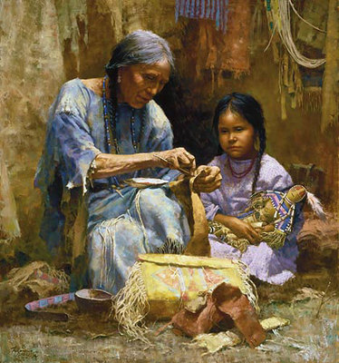 The Teachings Of My Grandmother- Signed By The Artist								 – Canvas Giclee – Limited Edition – 550 S/N – 30 x 28
