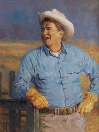Reagan- Signed By The Artist – CanvasGiclee – Limited Edition – 1989S/N – 28x21