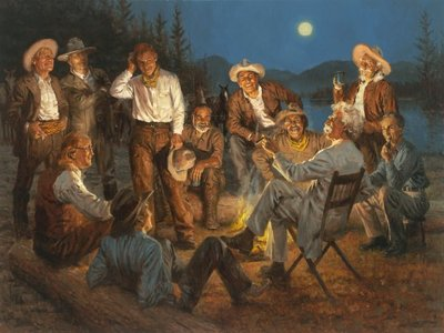 American Storytellers- Signed By The Artist								 – Canvas Giclee – Limited Edition – 35 S/N – 36 x 48
