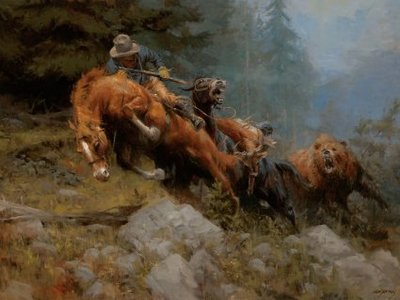Grizzly Mountain- Signed By The Artist – CanvasGiclee – Limited Edition – 15A/P – 24x32