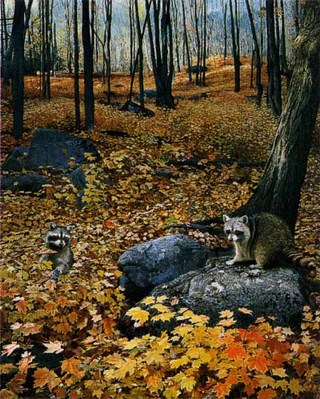 Autumn Hillside- Signed By The Artist – PaperLithograph – Limited Edition – 1000S/N – 23 3/8x19