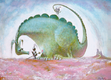 The Dragon Slayer- Signed By The Artist – PaperLithograph  – Limited Edition  – 20P/P  –  15 1/4x21 3/4