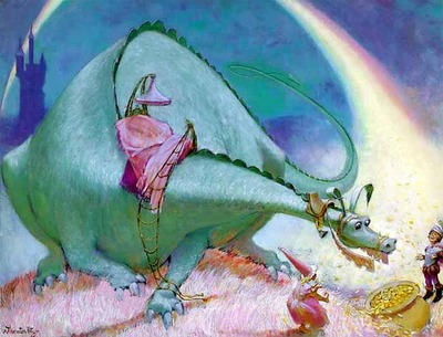 End Of The Rainbow- Signed By The Artist – PaperLithograph  – Limited Edition  – 76A/P  –  15 1/4x21 3/4