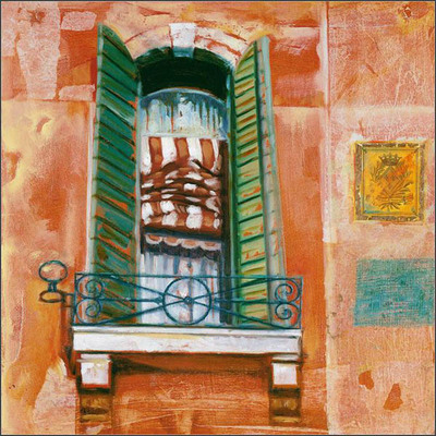 Venetian Window III- Signed By The Artist								 – Paper Giclee – Limited Edition – 220 S/N – 9 x 9