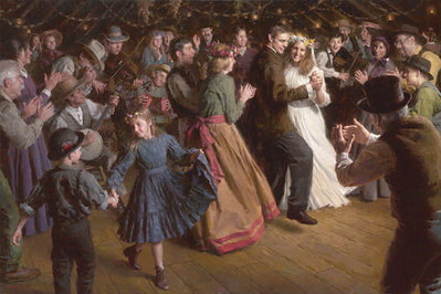The First Dance, 1884 Americana- Signed By The Artist – CanvasGiclee – Limited Edition – A/P – 33x50