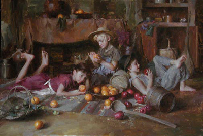 Apples And Oranges- Signed By The Artist – CanvasGiclee  – Limited Edition  – 45S/N  –  17x26