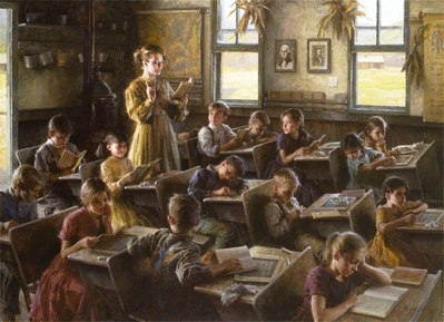Country Schoolhouse, 1879- Signed By The Artist – CanvasGiclee  – Limited Edition  – 15A/P  –  19x26
