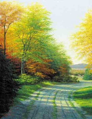 Autumn Countryside- Signed By The Artist – CanvasLithograph  – Limited Edition  – 500S/N  –  28x22