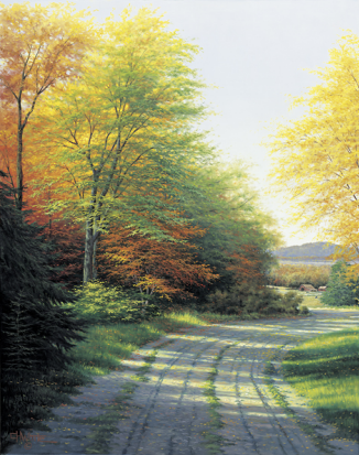 Autumn Countryside- Signed By The Artist								 – Canvas Lithograph – Limited Edition – 50 A/P – 28 x 22