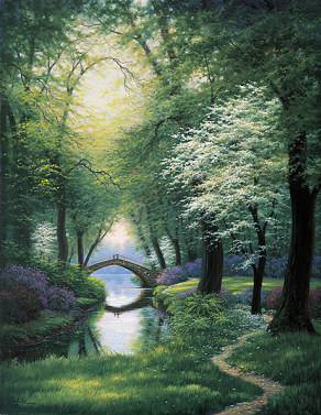 Beside Still Waters- Signed By The Artist								 – Canvas Lithograph – Limited Edition – 50 A/P – 32 x 24 1/2