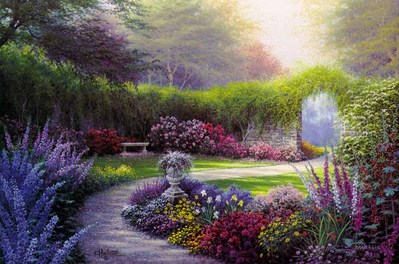 Down The Garden Path- Signed By The Artist – CanvasLithograph  – Limited Edition  – 50A/P  –  24x36
