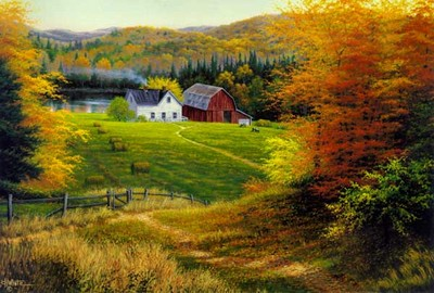 Lakeside Farms- Signed By The Artist – CanvasLithograph  – Limited Edition  – 500S/N  –  24x36