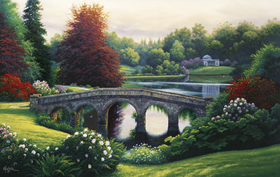 Late Afternoon- Signed By The Artist – CanvasLithograph  – Limited Edition  – 50A/P  –  30x48