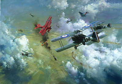 Encounter With The Red Baron- Signed By The Artist – PaperLithograph – Limited Edition – 850S/N – 21 1/4x31