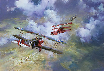 Last Combat Of The Red Baron- Signed By The Artist – PaperLithograph  – Limited Edition  – 850S/N  –  19 1/4x28