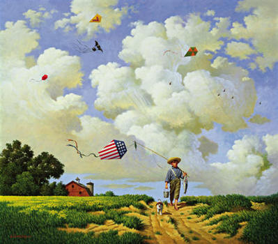 Another Hard Day At The Office- Signed By Liz Wysocki – CanvasLithograph  – Limited Edition  – 150S/N  –  17 1/8x20