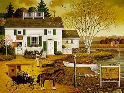 Birch Point Cove – Artist And Anglers Haven- CanvasLithograph  – Limited Edition  – 500Unsigned  –  21 1/4x24 1/4