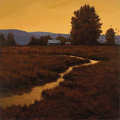 Summer Evening- Signed By The Artist – CanvasGiclee  – Limited Edition  – 95S/N  –  32x32