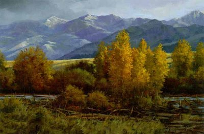 Morning In Montana- Signed By The Artist – CanvasGiclee  – Limited Edition  – 180S/N  –  16x24