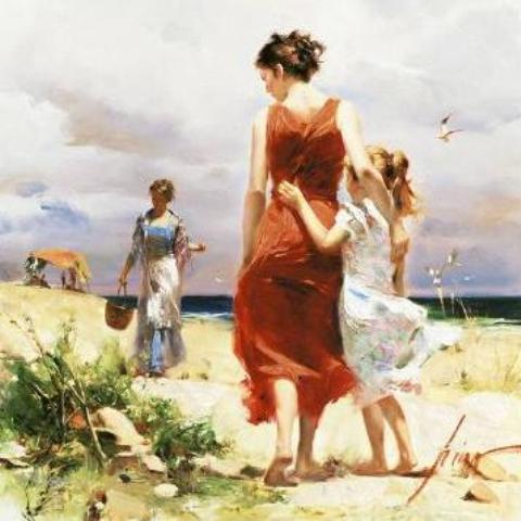 Breezy Days – Signed By The Artist – Giclee On Canvas – Limited Edition