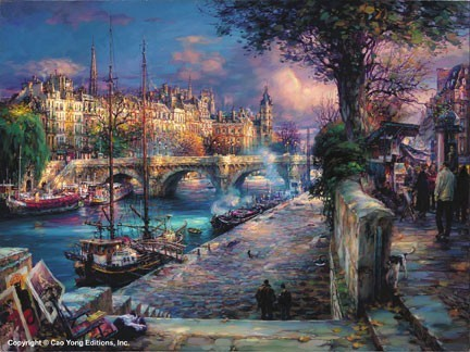 BANKS OF LA SEINE – SIGNED BY THE ARTIST – ARCHIVAL PIGMENT INK ON CANVAS – LIMITED EDITION