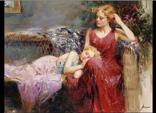 A Mothers Love– SIGNED BY THE ARTIST – GICLEE ON CANVAS – LIMITED EDITION