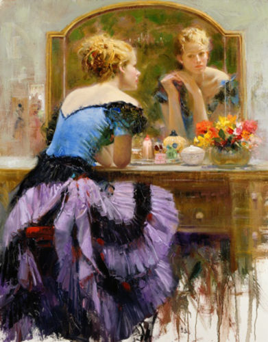 By The Mirror– SIGNED BY THE ARTIST – GICLEE ON CANVAS – LIMITED EDITION