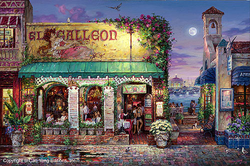Cafe Bella– SIGNED BY THE ARTIST – ARCHIVAL PIGMENT INK ON CANVAS – LIMITED EDITION