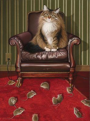 Chair Purrson- CanvasGiclee – Open Edition – Fine Art – 15x11