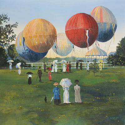 Balloons In The Park- CanvasGiclee  – Open Edition  – Fine Art  –  18x18