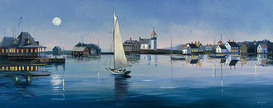 Ghosting In The Moonlight- CanvasGiclee  – Open Edition  – Fine Art  –  10x25