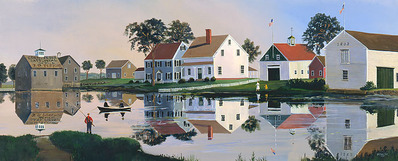 The Grist Mill Stream- CanvasGiclee  – Open Edition  – Fine Art  –  11x27
