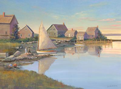 Still Morning Mackeral Cove- CanvasGiclee  – Open Edition  – Fine Art  –  14x19