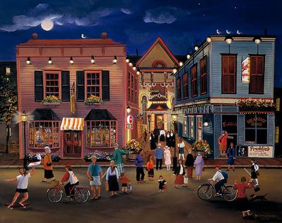 Tourist Town- CanvasGiclee  – Open Edition  – Fine Art  –  15x19