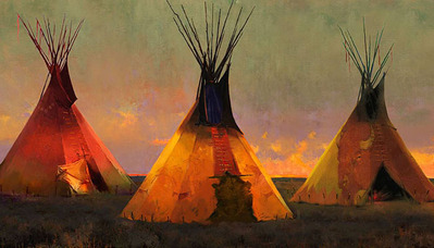 Eternal Triangle- Signed By The Artist – CanvasGiclee  – Limited Edition  – 55S/N  –  20x36