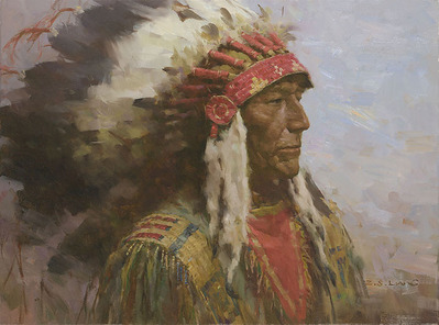 Brule Warrior- Signed By The Artist – CanvasGiclee  – Limited Edition  – 45S/N  –  18x24