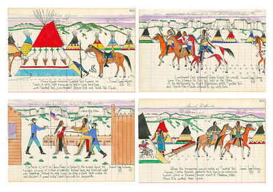 The Betrayal Of Crazy Horse (Set Of Four)- Signed By The Artist – PaperGiclee  – Limited Edition  – 45S/N  –  8x12