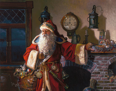 Father Christmas- CanvasGiclee  – Open Edition  – Fine Art  –  11x14
