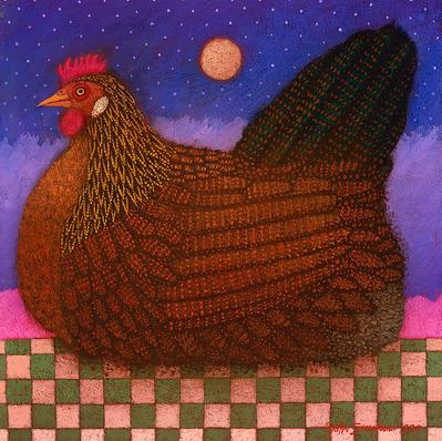 American Hen- CanvasGiclee  – Open Edition  – Fine Art  –  11x11