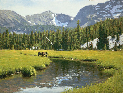 Lost Cabin Creek- Signed By The Artist – CanvasGiclee  – Limited Edition  – 45S/N  –  12x16