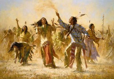 Hope Springs Eternal – The Ghost Dance- Signed By The Artist – CanvasGiclee – Limited Edition – 85S/N – 39x56
