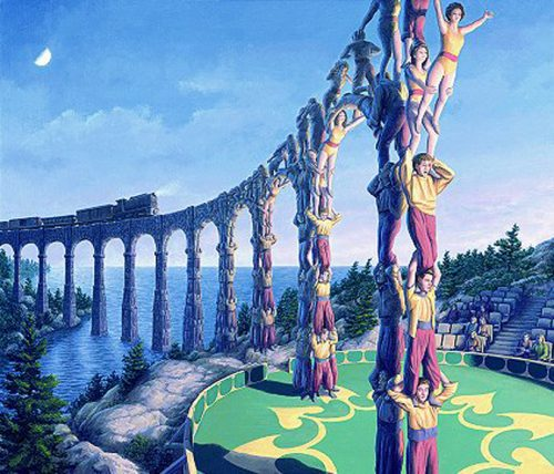 "Rob Gonsalves ""Acrobatic Engineering"" Signed And Numbered With COA"