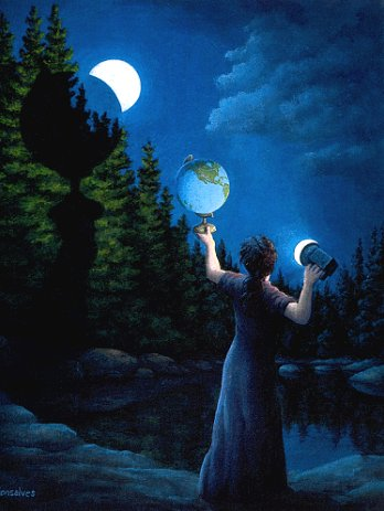 "Rob Gonsalves ""New Moon Eclipsed"" Signed And Numbered With COA"