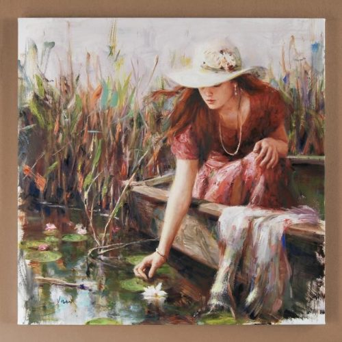 By The Pond – SIGNED BY THE ARTIST – Hand Embellished – GICLEE ON CANVAS – LIMITED EDITION